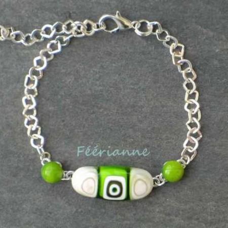 bracelet-fantaisie-fusing-vert-blanc